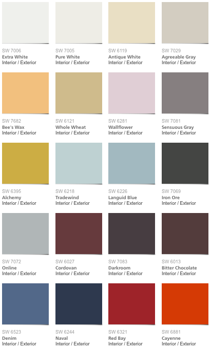 Pottery Barn Fall Color Palette